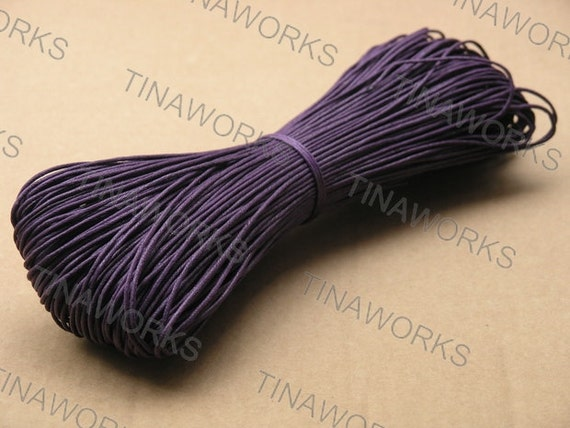 98Yard of Size 1.0mm Purple Waxed Cotton Cord for Bracelet/Necklace Making