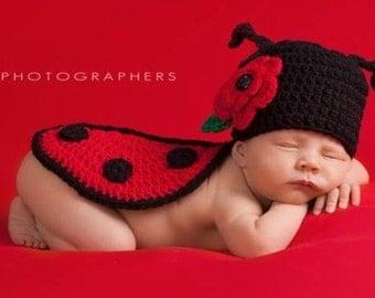 Crochet Photo Prop, Ladybug Costume, Ladybug Crochet Photo Prop, Costume Halloween, Halloween Photo, Photo Halloween, Costume Ladybug