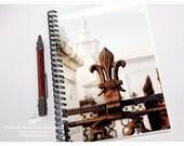 Fleur de Lis Notebook - Spiral Journal - Fleur de Lis Photo - New Orleans Journal - New Orleans Stationery