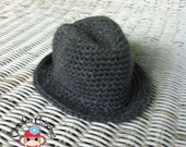 Crochet Pattern Newborn Little Gentleman Fedora