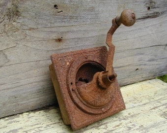Vintage Coffee Grinder Primitive Rusty General Store