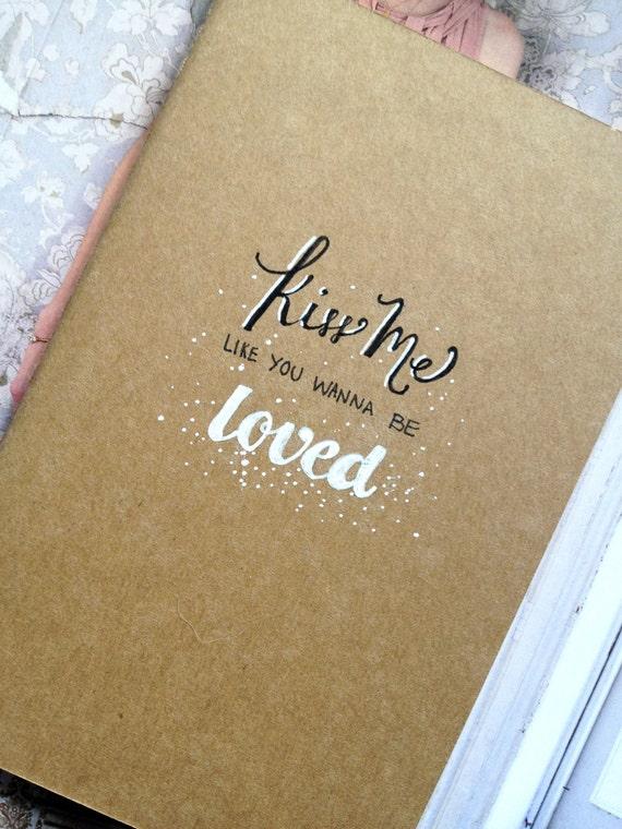 ed sheeran 39 kiss me 39 moleskine notebook. Black Bedroom Furniture Sets. Home Design Ideas