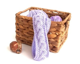 SALE - 50% Off! Hair Band. Knit Head Wrap. Headband Hair. Lavender Headband. Knit Hair Accessory.