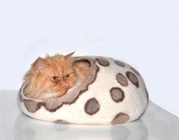 cuccia letto per gatti lana Savana Style bianco maronne