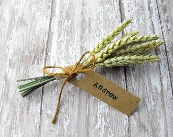 Thanksgiving Table Decor-Fall Wedding Place Cards, Rustic Thanksgiving Place Cards, Dried Wheat, Escort Cards, Holiday Place Cards