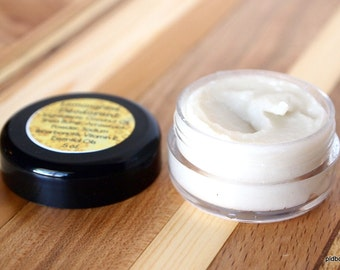 Lemongrass Vegan Natural Deodorant, Sample Size, Aluminum Free Deodorant Cream