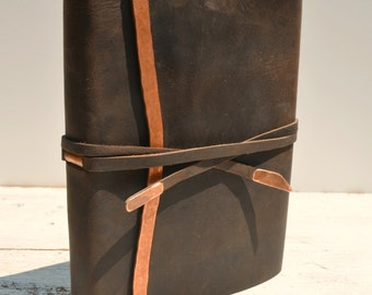 Custom Handmade to Order Leather Journal Bound Poetry (256)
