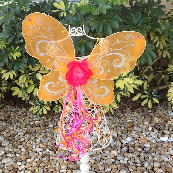 Items similar to Orange Fairy Wings, Orange Wings, Fairy ...