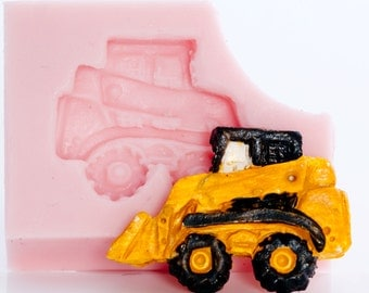 Mold Skid Steer Flexible Silicone for Fondant, Gum Paste, Chocolate, Candy, Resin, Soap, Wax, Plaster, Paper, Metal (811)
