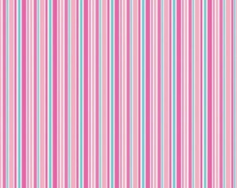 Pink Lovey Stripe (Lovey Dovey) by Doodlebug Designs for Riley Blake