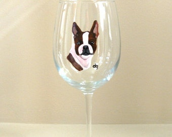 Painted wine glass etsy for Wine and paint boston