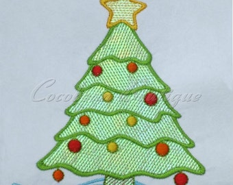 mylar Christmas Tree applique embroidery