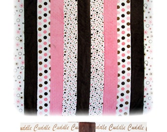 Cuddle Quilt Kit Pink, Brown, creamy white from Shannon Fabrics