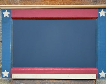 """AMERICANA CHALKBOARD / Handcrafted PRiMiTiVE Country Kitchen Style / Horizontal 16"""" x 24"""""""