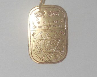 Lord Kuber Yantra Divine Frequency Resonance Pendant