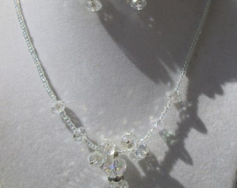 Sparkling Crystal Rhinestone Necklace Set