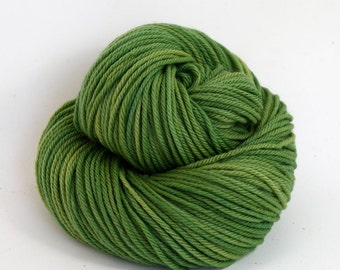 Supernova - Hand Dyed Superwash Merino Wool Worsted Yarn - Colorway: Moss