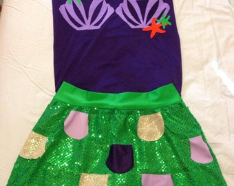 Mermaid Inspired Running costume