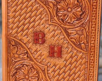 Custom, Hand tooled leather Ipad Pro