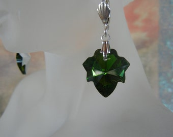 Emerald Maple Leaf Earrings