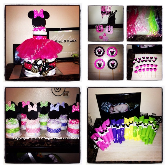 Extra Large Minnie Mouse Baby Shower Party Package/Minnie