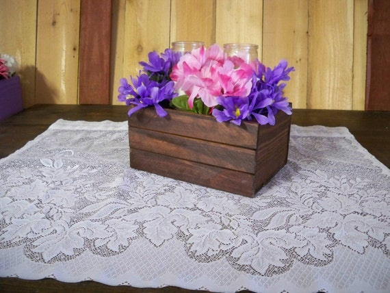 Items similar to small wood crate wedding centerpiece