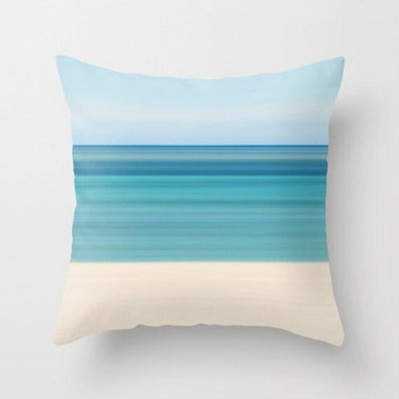 Coastal Color Throw Pillows : Coastal Decor Photography Pillow Beach Cottage Living Room