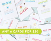 Any 6 Cards for 20 Dollars