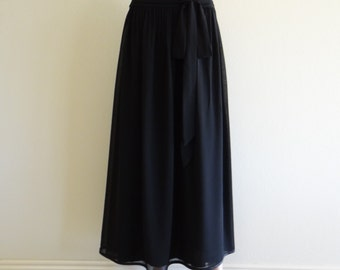 Black Maxi Skirt.Black Long Skirt