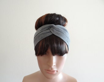 Grey Headband. Grey Head Wrap