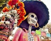 Dia De Los Muertos Art, Day of the Dead Photograph, La Calavera Catrina, home decor, fine art photography print