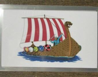Elder Futhark Rune Cards; Full Size Viking Ship Design