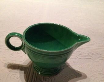 Original Fiestaware ring handle creamer in original green