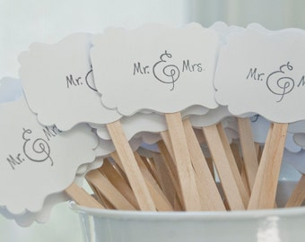 Wedding Drink Stirrers-Stir Sticks-Cocktail Party-Wedding Reception Decoration-Signature Drink Stirrers- Set of 100