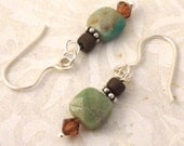 Apatite Blue-Green Gemstone Earrings