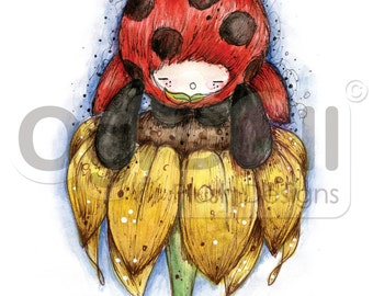 Ladybird Illustration Print