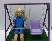 American Girl Doll Swing Set - Purple