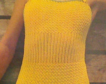 2 (Two) Vintage Crocheted Women's One Piece Swimsuit and Cover Up Pattern