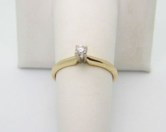 Say It  With  Love  14k  2.9mm DIAMOND ENGAGEMENT Ring  Size  6.75 r 731   2.1g
