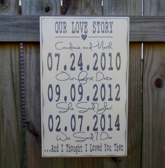 Our Love Story Wedding Idea: Wedding Sign Our Love Story Wedding Sign Wedding Gift