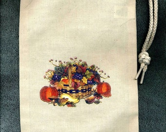 Harvest Autumn Bounty New Cloth Wine Spirits Tote Bag
