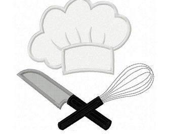 Instant Download Chef Applique Machine Embroidery Design NO:1411