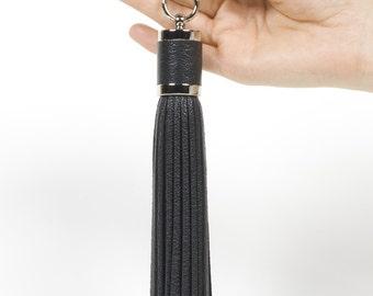 Tassel charm Leather Keychain, bag charm, Leather Tassel Keychain, keyring, bag charm, tassel keychain, bridesmaid gift