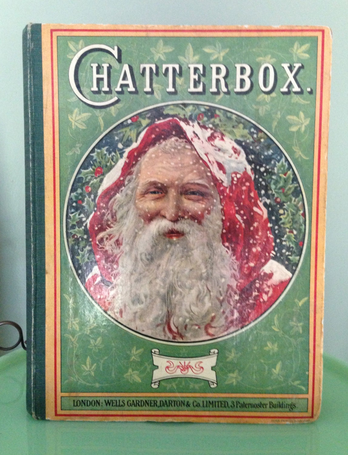 Antique Santa Claus Chatterbox Christmas Book Victorian Era