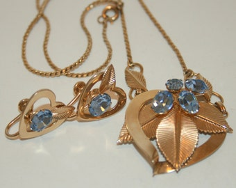 Vintage VanDell 12 KGF Necklace and Earrings
