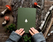 Forest  notebook with a carved pattern - Spruce