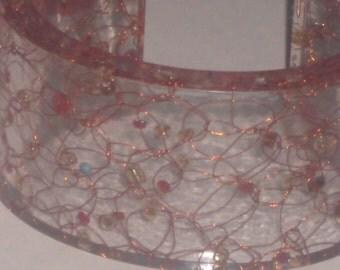 Vintage Acrylic Cuff Bracelet