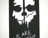 COD Ghosts Call of Duty Ghosts Inspired Canvas Painting With Personalization Available. Add Your Name, Gamer Tag, Clan Tag Etc.