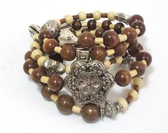 Boho Bracelet, Bohemian Jewelry, Stacked Bracelets, Layered Bracelet, Gypsy, Artisan Jewelry, Multi layer bracelet, Exotic Stylish