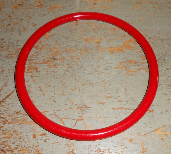 Purse handles bag handles red plastic macrame rings by for Large plastic rings for crafts